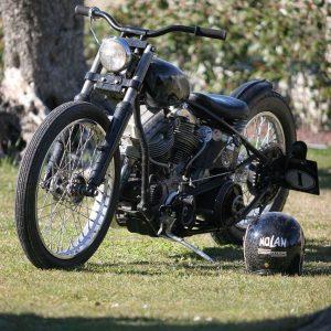 chopper panhead harley davidson flh 1965