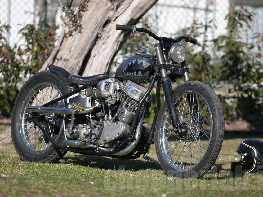 chopper panhead harley davidson