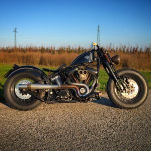 softail custom bobber evolution