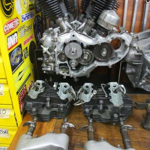 restauro knuckle hd 1946 chopperlab motore