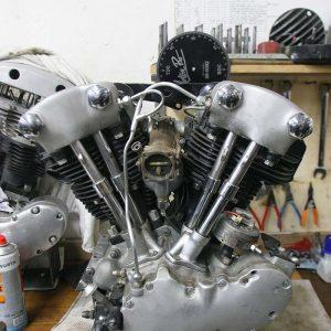 restauro knuckle hd 1946 chopperlab motore 01